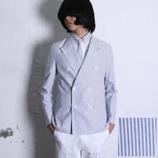 Buy REENO Double-Breasted Striped Jacket 1022816698