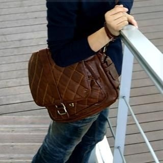 Buy ISNOM Quilted Shoulder Bag 1021963430
