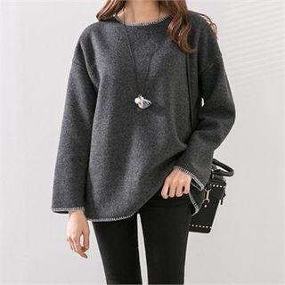 Drop-Shoulder Knit Top 1056362911