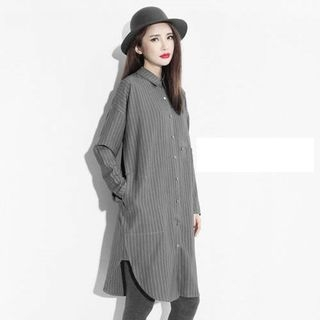 Striped Long Shirt 1058160248
