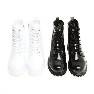 Picture of Portfranc Patent Lace-Up Boots 1022981433 (Boots, Portfranc Shoes, Korea Shoes, Mens Shoes, Mens Boots)