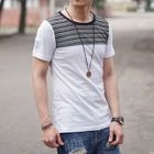 Short-Sleeve Color Block T-Shirt от YesStyle.com INT