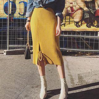 Ribbed Midi Skirt 1062561056