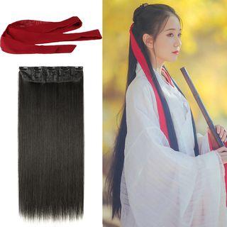 Image of Plain Chiffon Hair Tie / Hair Extension / Set