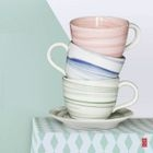 Ceramic Coffee Cup with Saucer 1596