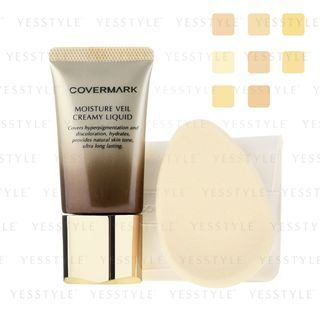Image of Covermark - Moisture Veil Creamy Liquid SPF 38 PA+++ - 6 Types