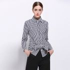 Bow-Accent Striped Blouse 1596