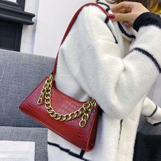 Image of Chain Accent Shoulder Bag
