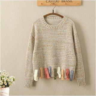 Fringed Trim Sweater 1064092908