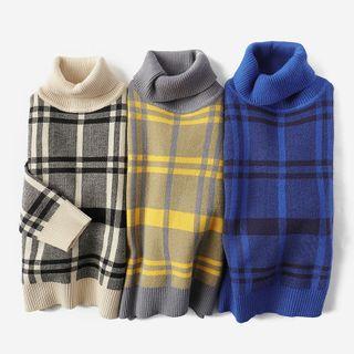 Turtleneck | Sweater | Plaid | Kid