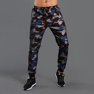 Sports Drawstring Waist Camouflage Sweatpants 1063560056