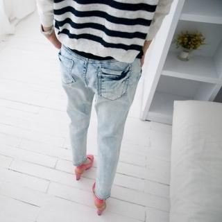 Picture of Cookie 7 Washed Jeans 1022748305 (Cookie 7 Pants, South Korea Pants)