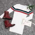 V-Neck Ribbed Knit Dress 1596