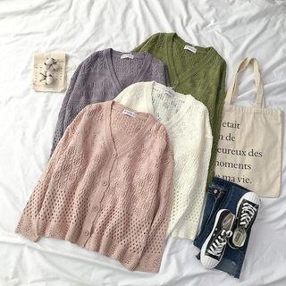Rib knit Cardigan 1064987494