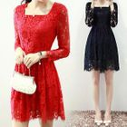 Long Sleeved Lace Dress 1596