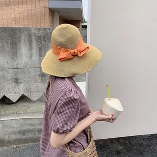 Image of Foldable Ribbon Accent Bucket Hat