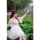 Lattice Frilled Dress 1596