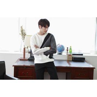 Color-Block Neoprene Sweatshirt 1052891829