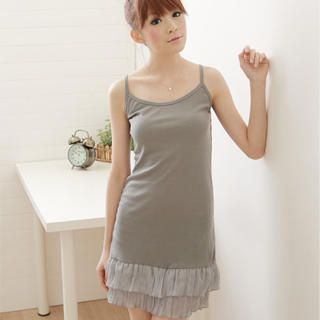 Picture of F-DNA Ruffled-Hem Slipdress 1022878064 (F-DNA Dresses, Womens Dresses, Taiwan Dresses)
