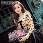 Leopard-Print Knit Top 1596