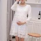 Maternity Long-Sleeve Lace Dress 1596