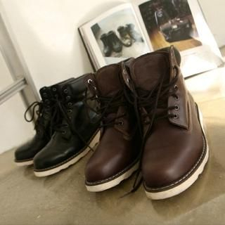 Picture of MUTNAM Lace-Up Boots 1021873075 (Boots, MUTNAM Shoes, Korea Shoes, Mens Shoes, Mens Boots)