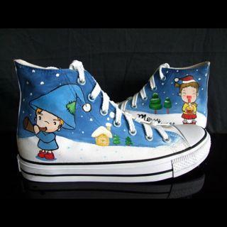 Buy HVBAO Christmas Messenger High-Top Sneakers 1012891697