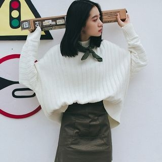 Mock Neck Ribbed Sweater 1056030006