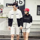 Two-Tone Matching Couple Hooded Windbreaker 1596