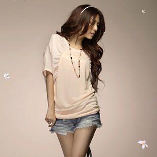 Buy Tokyo Fashion Rhinestone Ruched Long Top 1022508496