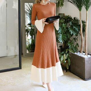 Contrast-Trim Knit Midi Dress 1062962701