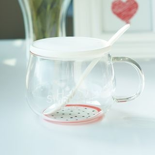 Glass Cup with Lid 1065125017