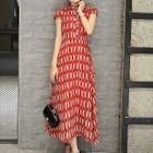 Patterned Maxi Dress 1596