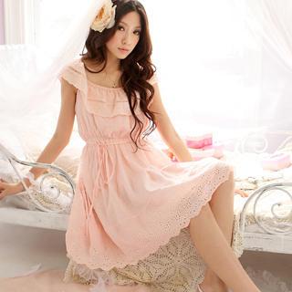 Buy Tokyo Fashion Cape-Collar Eyelet Lace Dress 1022411633