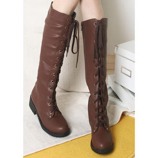 Picture of KAWO Lace-Up Long Boots 1022788563 (Boots, KAWO Shoes, China Shoes, Womens Shoes, Womens Boots)