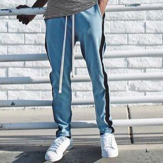 Image of Two-Tone Straight-Cut Pants