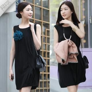 Buy Mango Ribbon Sleeveless Dress with Sash 1022990950