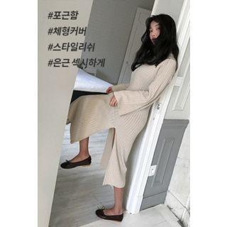 Ribbed Long Knit Dress 1062024265