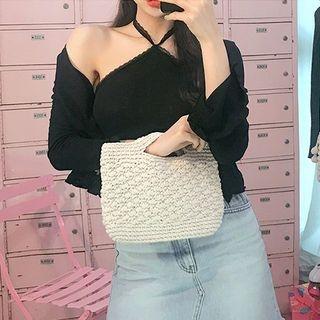 Slit-Handle Mini Crochet Tote 1065878026