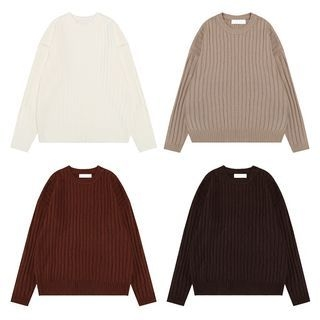 Crew Neck Ribbed Sweater 1063925585