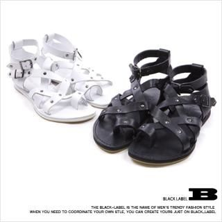 Picture of Style Impact Faux Leather Sandals 1022858658 (Sandals, Style Impact Shoes, Korea Shoes, Mens Shoes, Mens Sandals)