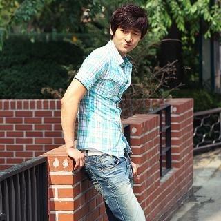 Buy Style YOURS Short-Sleeve Plaid Shirt 1022860375