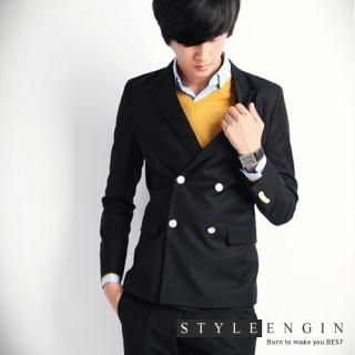 Buy Style Engine Double-Breasted Blazer 1023054645