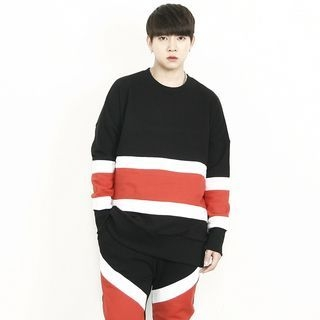 Color-Block Boxy-Fit Sweatshirt 1065135125