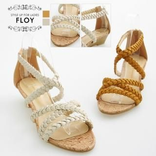 Buy FLOY SHOES Braided Strap Wedge Sandals 1023054894
