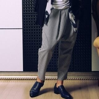 Picture of Newyorkhomme Check Harem Pants 1022556524 (Newyorkhomme, Mens Pants, Korea)