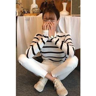 Slim-Fit Striped Knit Top 1061946980