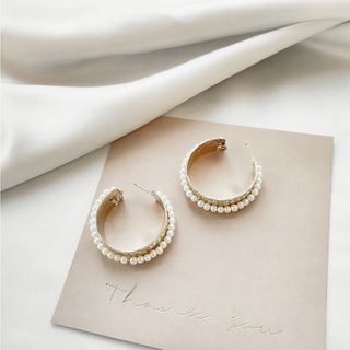 Sterling | Earring | Silver | Bead | Hoop | Gold | Size | One