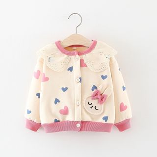 Image of Kids All Over Heart Cardigan
