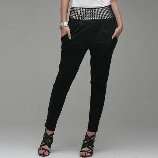 Buy LCLOTHES Studded-Waist Harem Pants 1022990617